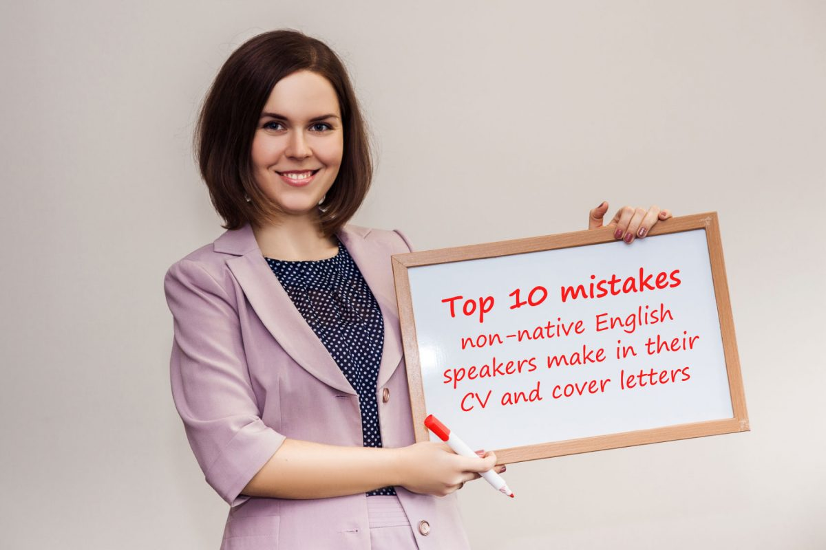 cover letter and cv in english - top 10 mistakes